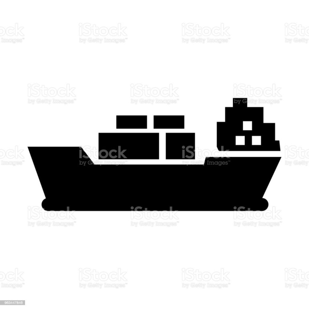 medium resolution of cargo ship icon vector illustration flat design style royalty free cargo ship