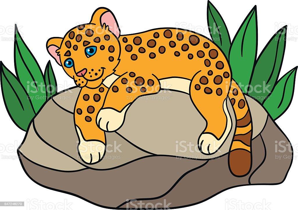Cute Cartoon Baby Jaguar