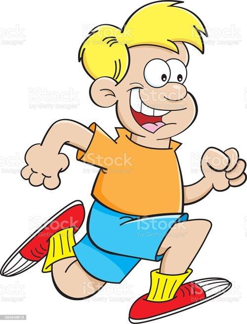 small resolution of cartoon boy running lizenzfreies cartoon boy running stock vektor art und mehr bilder von clipart