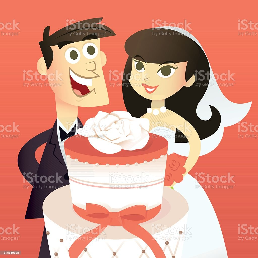 Hochzeitstorte Comic  Hochzeit