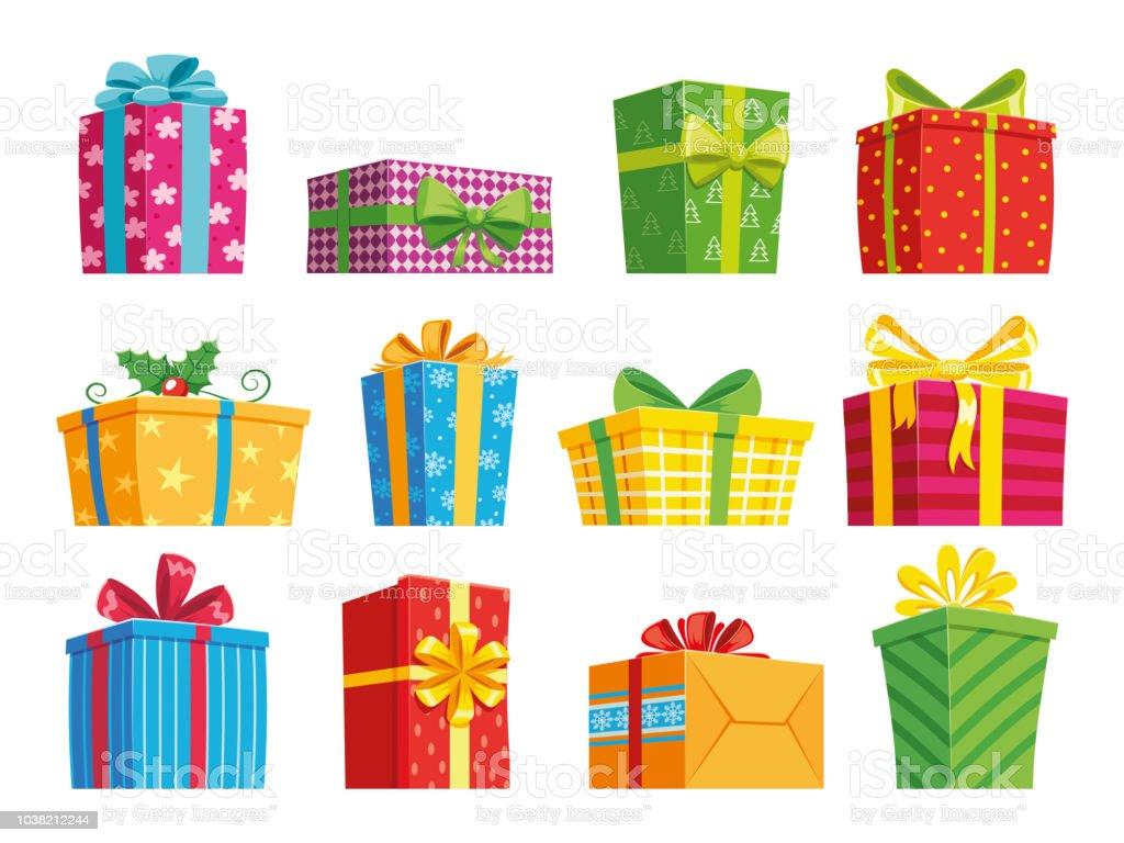 cartoon gift box christmas