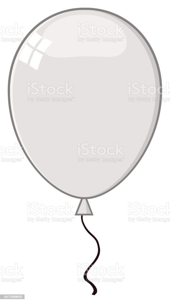 cartoon gray balloon stock vector