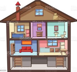 cartoon interior vector rooms attic illustration clip simple single basement houses illustrations premium cartoons vectors mexico bathroom