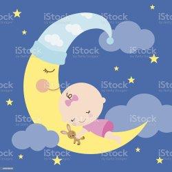 sleeping baby moon cartoon illustration babies star clipart dreamstime vector boy sleep bedtime illustrations vectors lullabies soothe stars asleep nothing