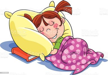 Girl Sleep Cartoon