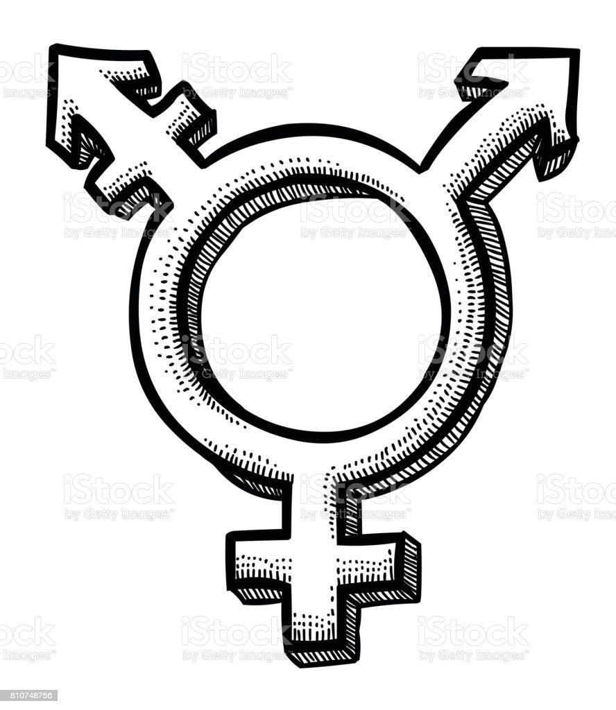 Image De Dessin Animé Dicône Transgenre Symbole De