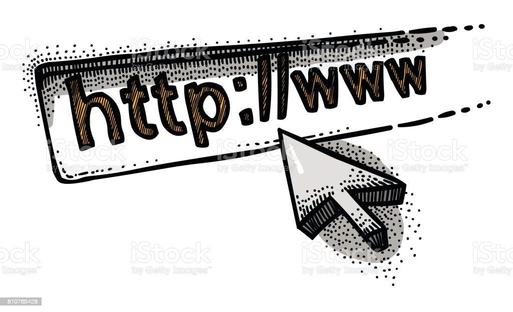 Ilustración de Caricatura De Icono De Página Web Ir A