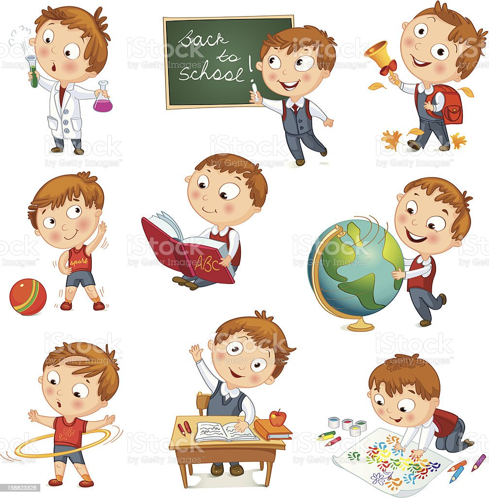 hight resolution of a cartoon kid showcasing all his activities at school toothbrush clip art brush teeth clip art