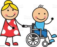 Cartoon Man On A Wheelchair Stock Vector Art & More Images ...
