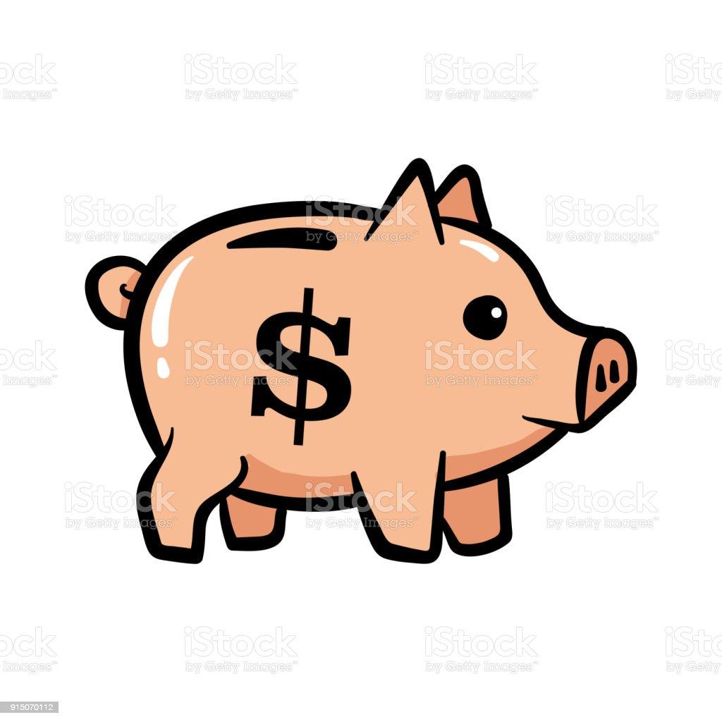 卡通小豬銀行 向量插圖及更多 債務 圖片 915070112 | iStock