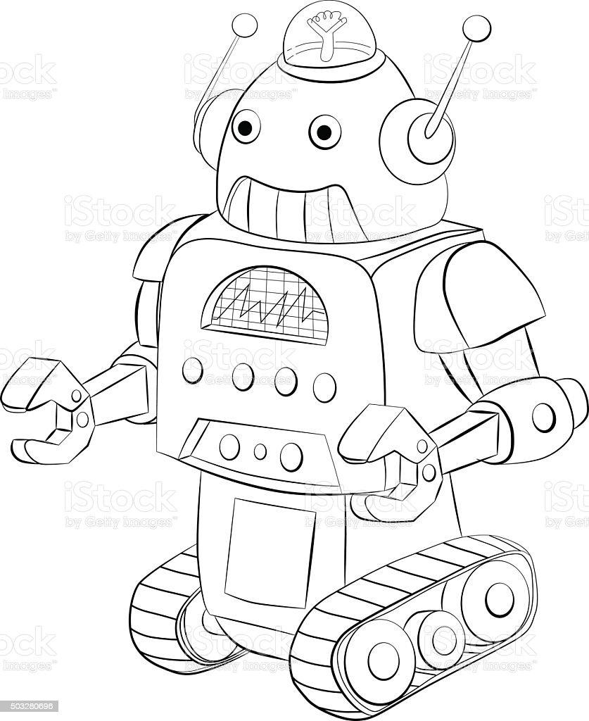 Ilustração de Robô Dos Crawler Livro De Colorir e mais