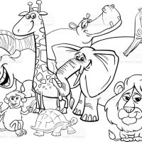 Cartoon Animals Coloring Page Gm Wallpaper Animals Of Smartphone Hd Sanimals Stock Vector Art