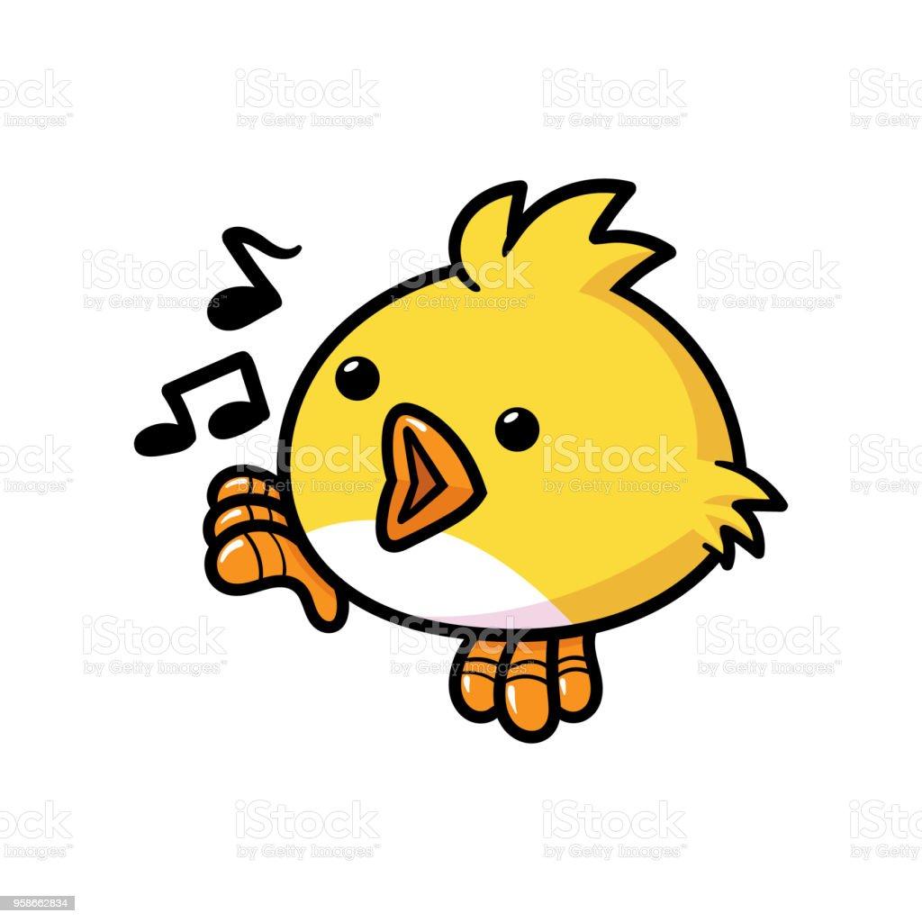 卡通歌唱鳥 向量插圖及更多 剪貼畫 圖片 958662834   iStock