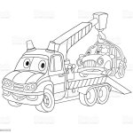 Cartoon Tow Truck And Car After The Crash Stock Illustration Download Image Now Istock