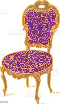 Cartoon Vector Vintage Chair Stock Vector Art & More ...