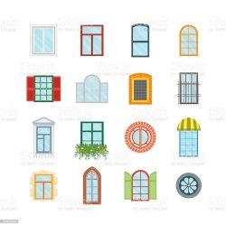 cartoon windows vector window illustration sill clip building wooden glass illustrations ancient cartoons castle construction column architectural apartment europe architecture