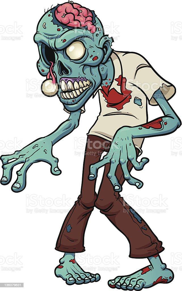 Zombie Cartoon Images : zombie, cartoon, images, Cartoon, Zombie, Stock, Illustration, Download, Image, IStock