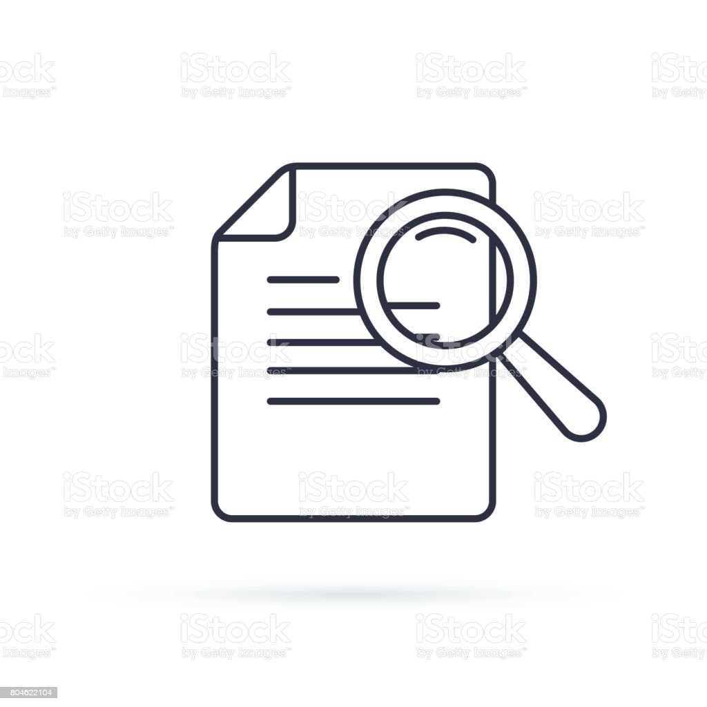 Case Studies Vector Line Icon Infographic Element About