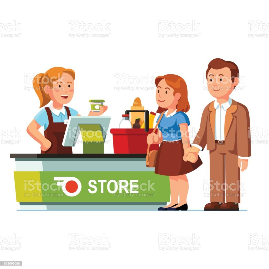 Top 60 Cashier Clip Art Vector Graphics and Illustrations  iStock