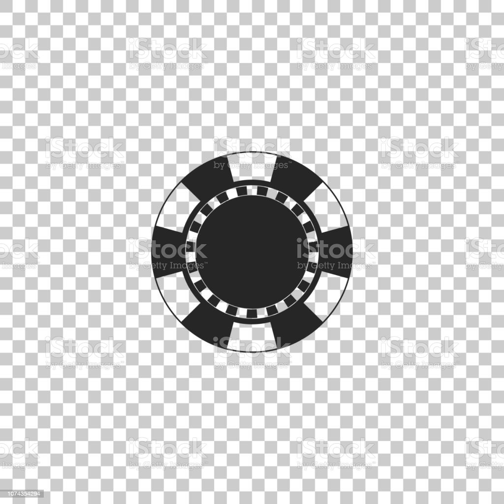 Casino Chip Icon Isolated On Transparent Background Flat
