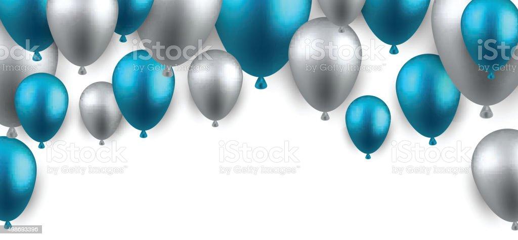 silver balloon illustrations