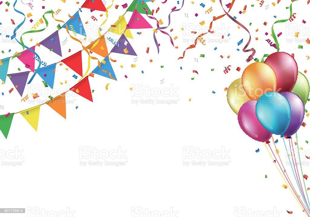 celebration design with flag balloon