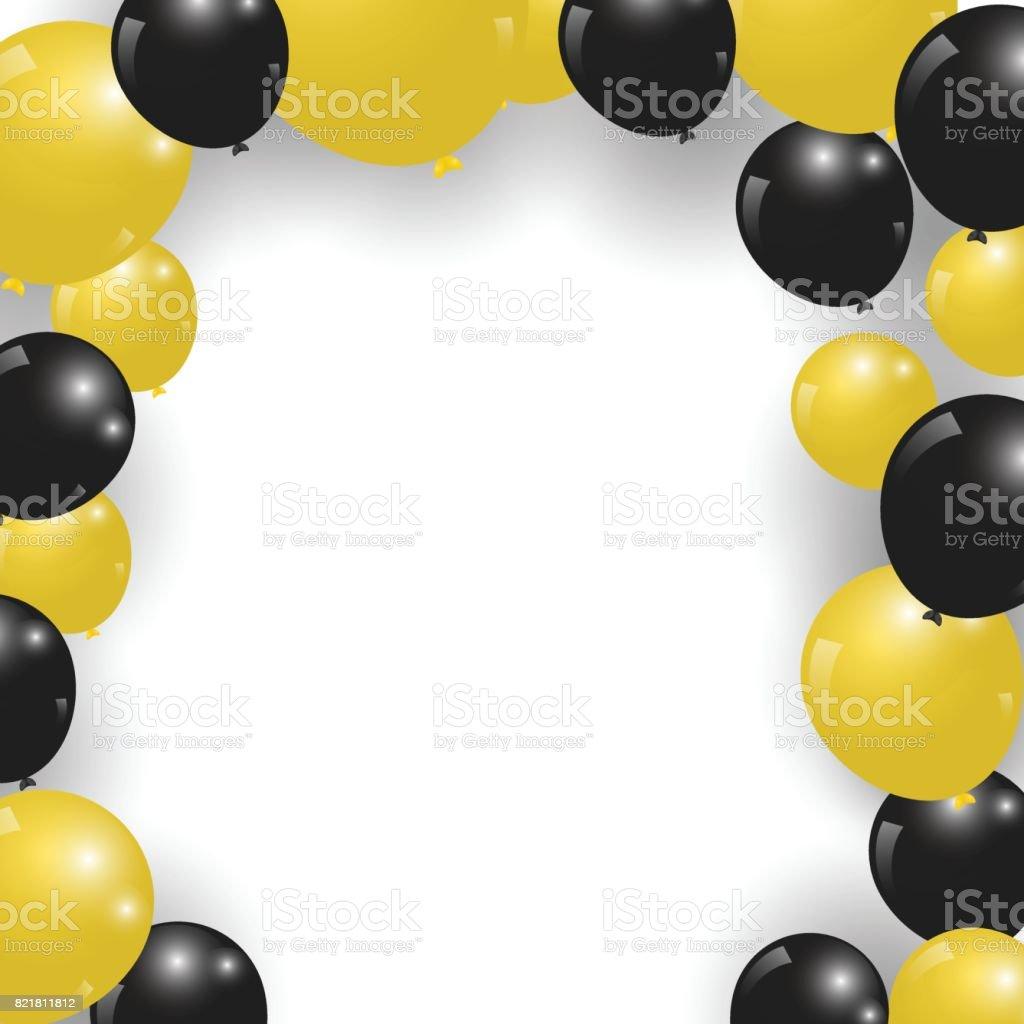 royalty free yellow ballon clip