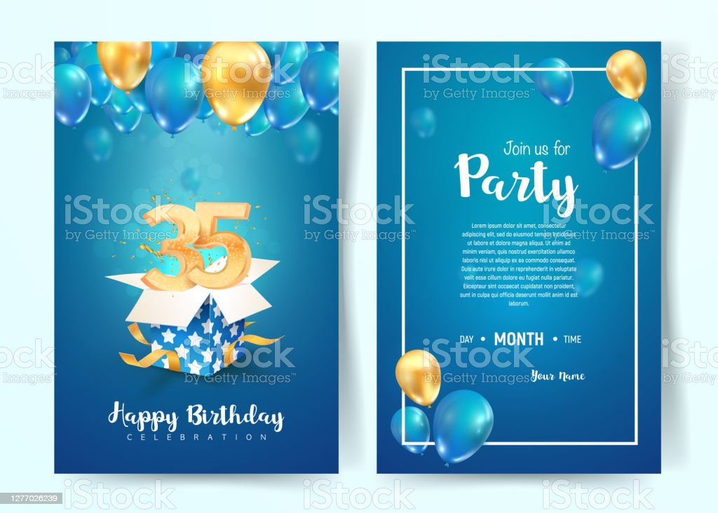 birthday invitation vector art graphics freevector com