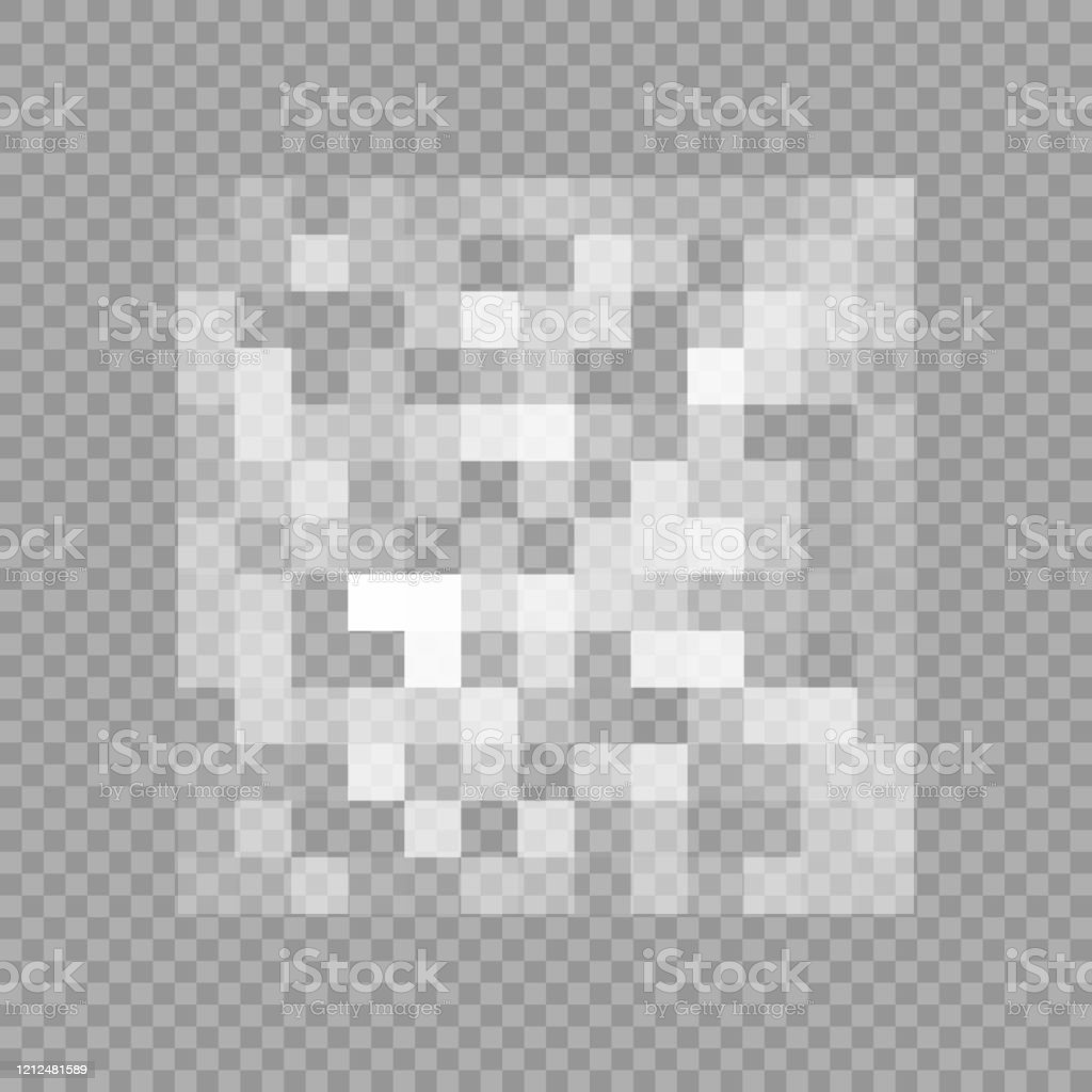 Censorship Gray Mosaic Censored Data Pixels Blur Area Private Content Vector Illustration Isolated On Transparent Background Stock Illustration ...