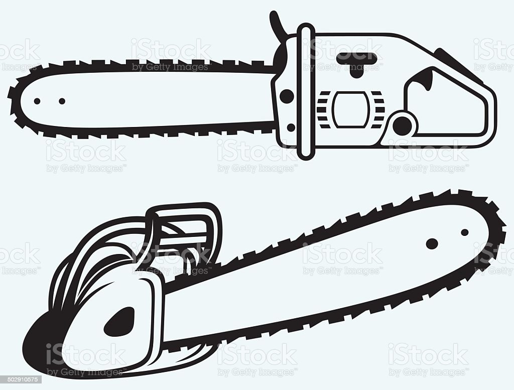 chainsaw clip art vector