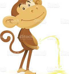 cheeky monkey takes the pee royalty free cheeky monkey takes the pee stock vector art [ 881 x 1024 Pixel ]