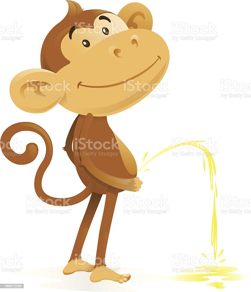 hight resolution of cheeky monkey takes the pee royalty free cheeky monkey takes the pee stock vector art
