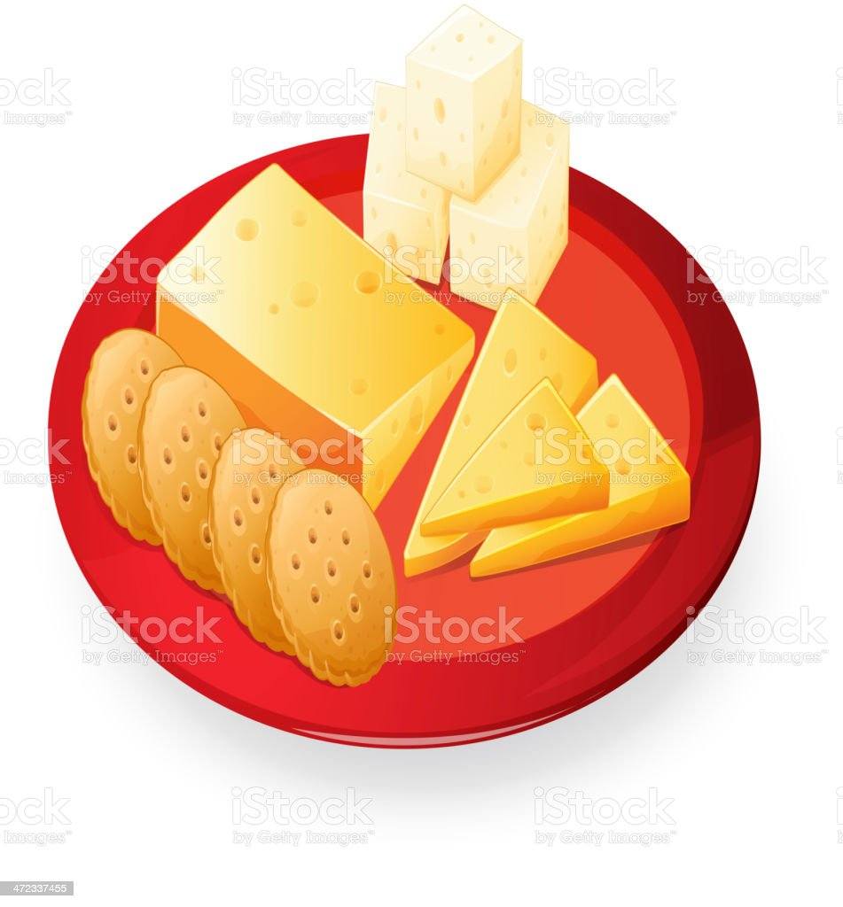top cheese and crackers clip art