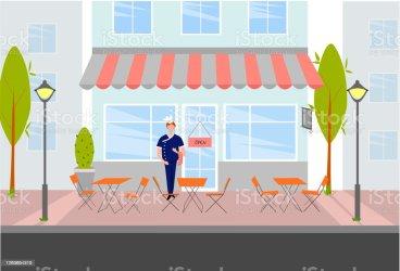 Scene Inside Restaurant Kitchen Clipart Images