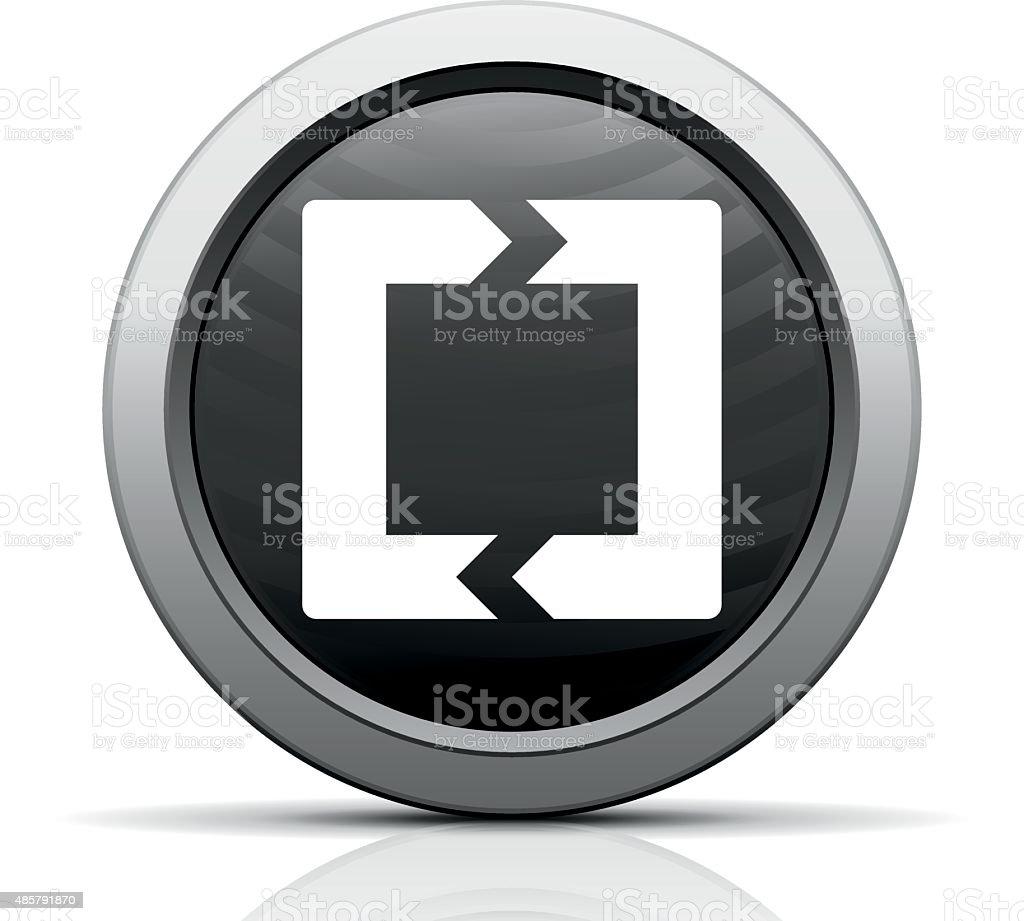hight resolution of chevron chart icon on a round button royalty free chevron chart icon on a