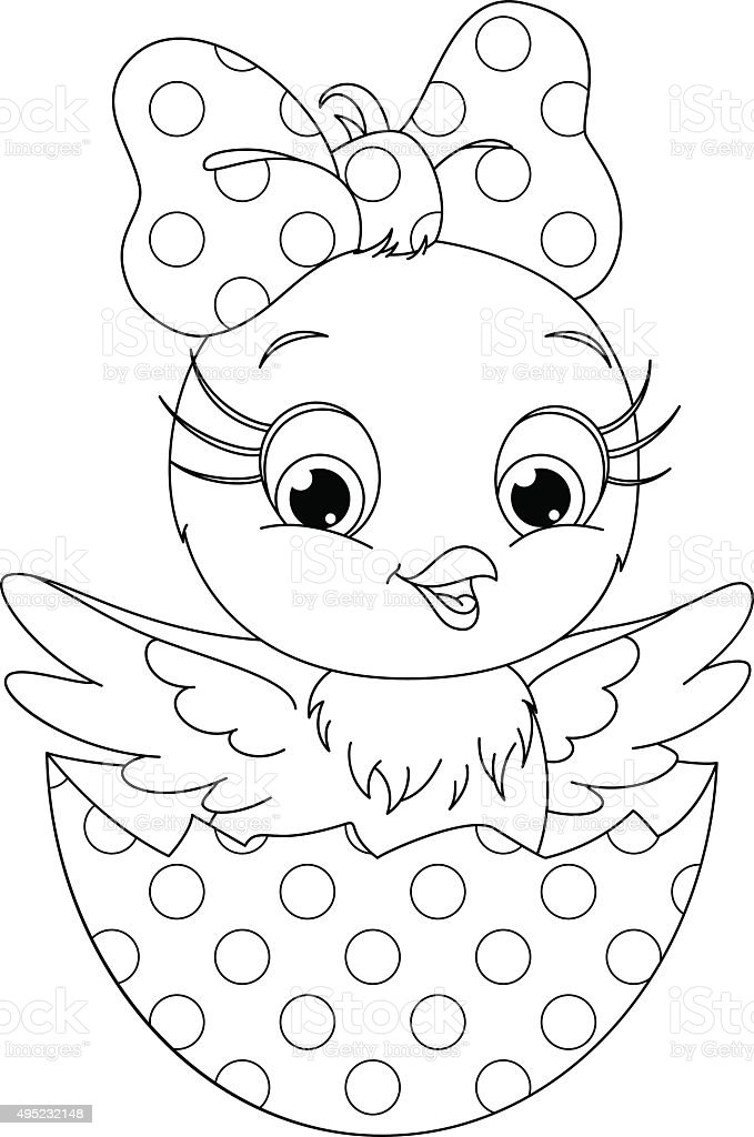 Chicken Coloring Page Stock Vector Art & More Images of