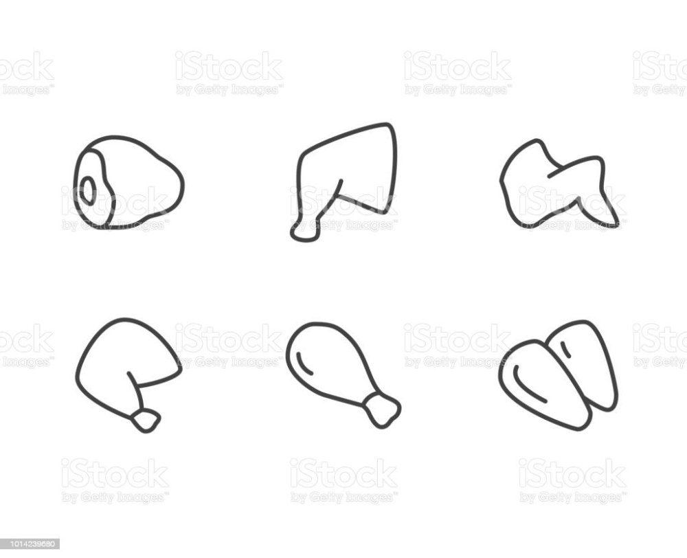 medium resolution of chicken meat flat line icons turkey leg chickens wings hen breast vector illustrations thin signs for food store butcher shop pixel perfect 64x64