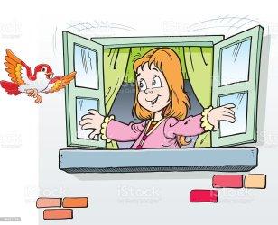 window child open vector bird clip clipart illustration illustrations royalty istock istockphoto