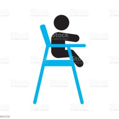 Age For High Chair And A Half With Ottoman Canada Child Sitting In Dining Highchair Icon Stock Vector Art More Illustration