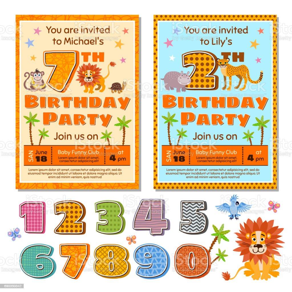 children birthday party invitation
