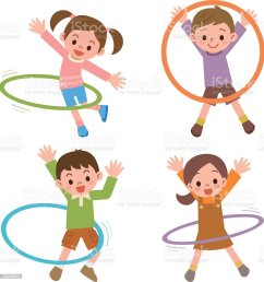 children to the hula hoop royalty free children to the hula hoop stock illustration  [ 966 x 1024 Pixel ]