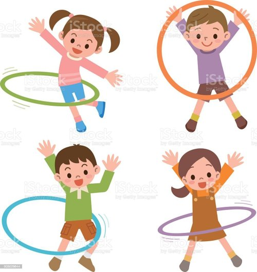 small resolution of children to the hula hoop royalty free children to the hula hoop stock illustration