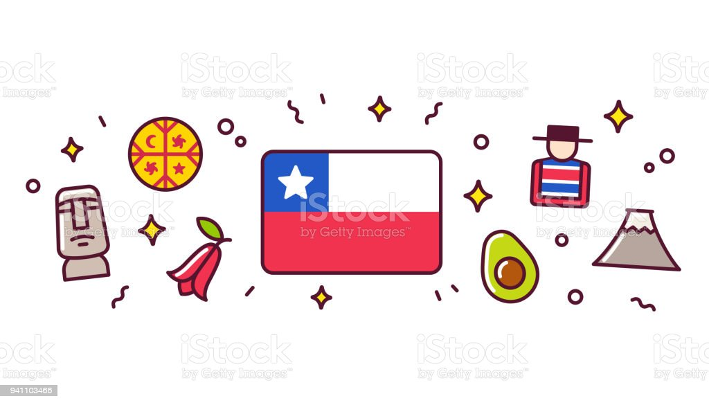 Royalty Free Patagonia Chile Clip Art Vector Images