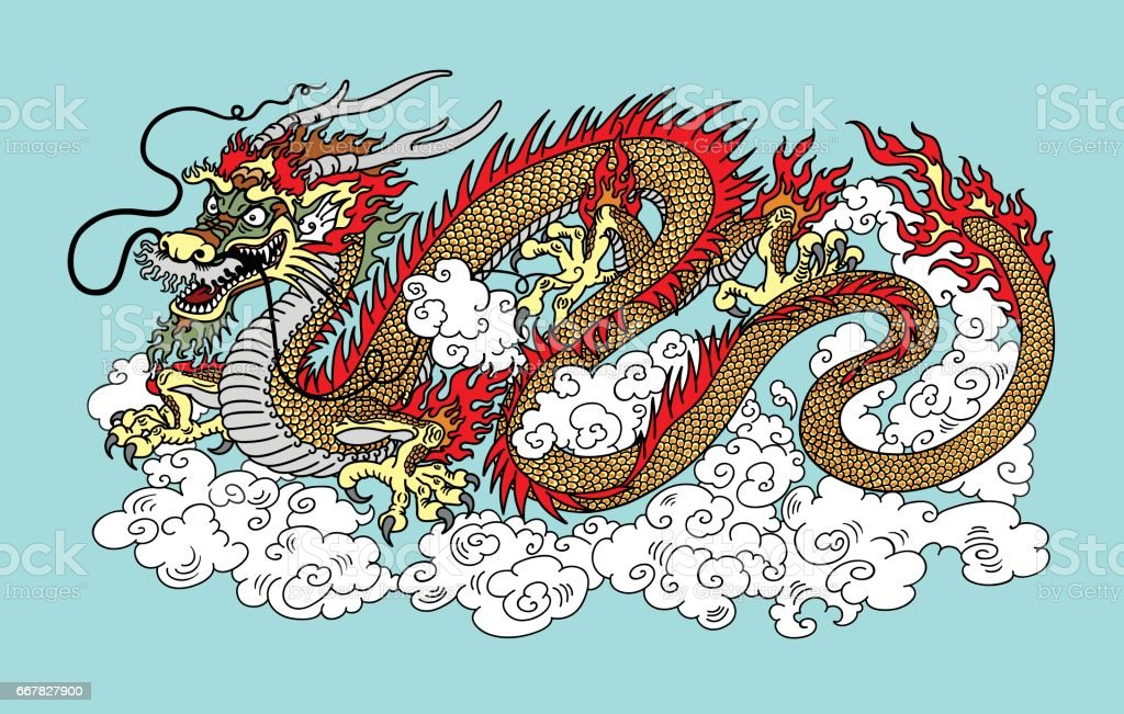 chinese dragon in the