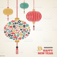 Chinese New Year Asian Lanterns Lamp Stock Vector Art ...