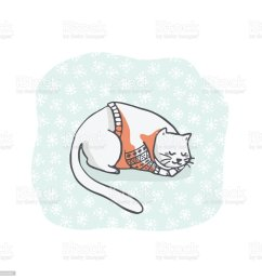 christmas kitten embroidery jumper and present box clipart hand drawn royalty free christmas kitten [ 1024 x 1024 Pixel ]