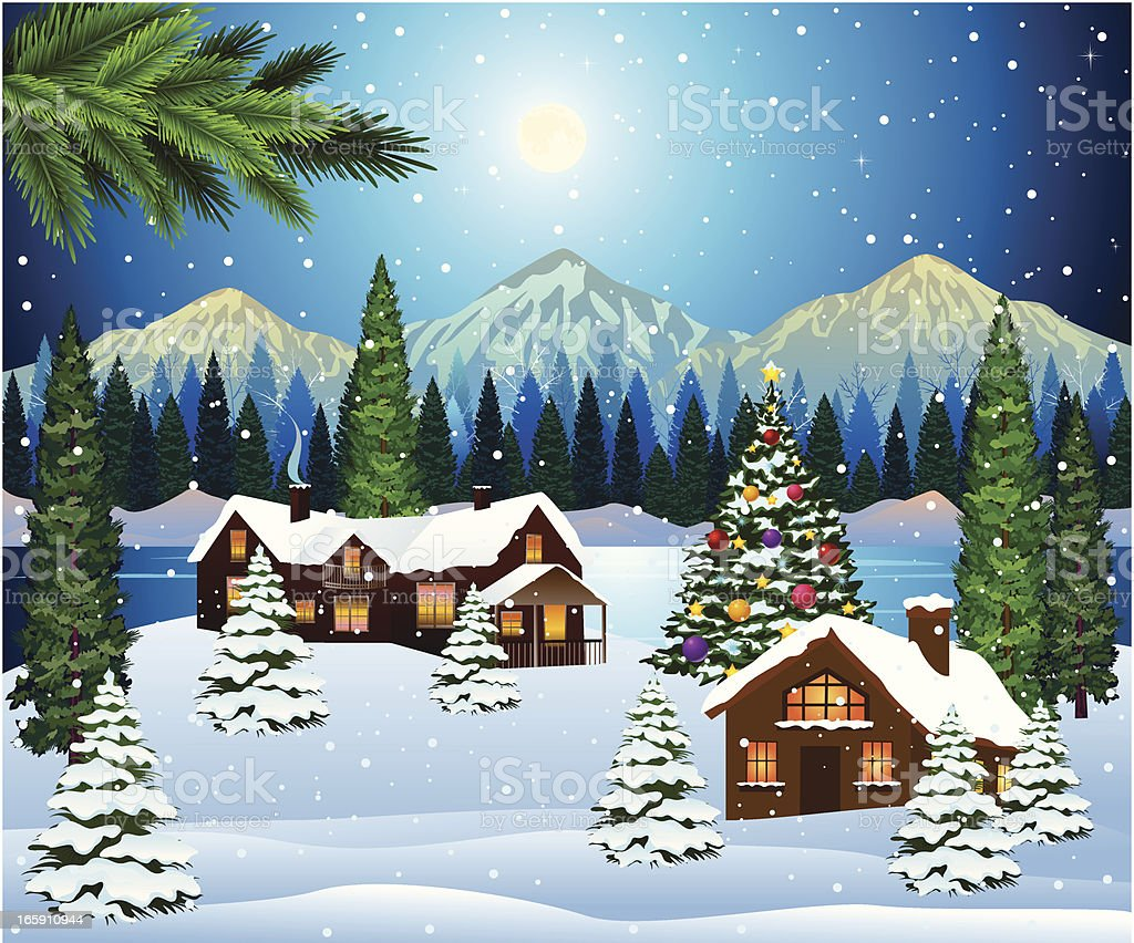 Christmas Landscape Background Stock Vector Art  More