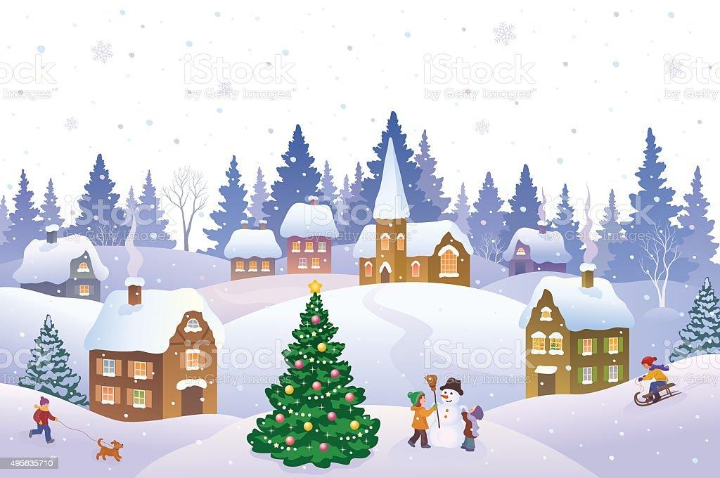 Visualizza altre idee su paesaggi, cartoline di natale, immagini di natale. Paesaggio Di Natale Immagini Vettoriali Stock E Altre Immagini Di Natale Istock