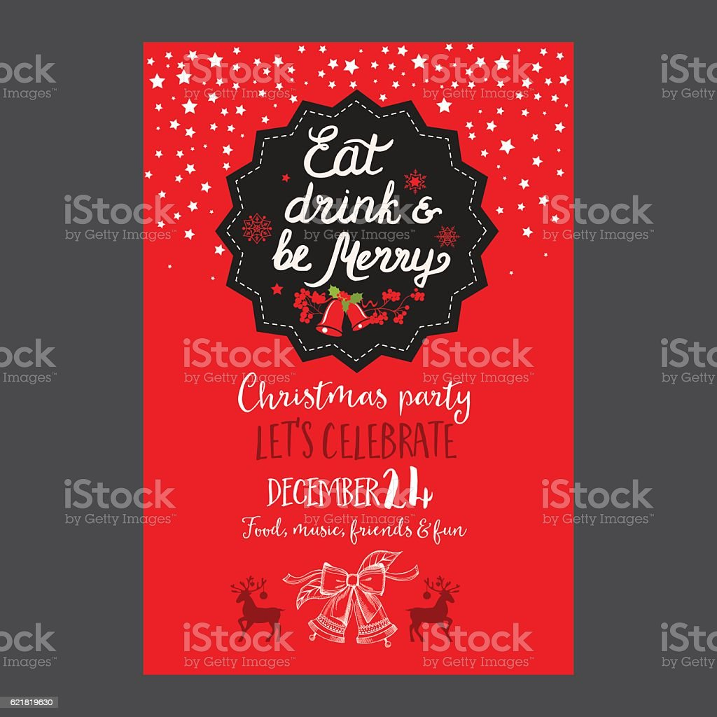 https www istockphoto com de vektor christmas party invitation restaurant food menu gm621819630 108680631