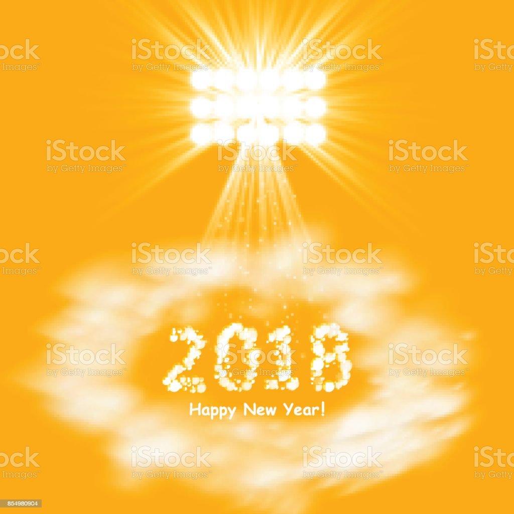 Happy 2018 New Year Flyer, Greeting Card, Invitation, Menu